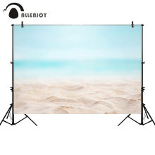 Allenjoy photography backdrops summer bokeh baby blue sea ocean beach background photo studio photocall photophone shoot prop(China)