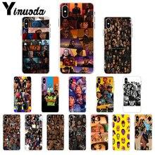 Yinuoda American hip hop celebrity Novelty Fundas Phone Case Cover for iPhone X XS MAX  6 6s 7 7plus 8 8Plus 5 5S SE XR yinuoda spanish tv series elite novelty fundas phone case for iphone x xs max 6 6s 7 7plus 8 8plus 5 5s se xr 11 11pro max