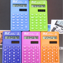 Студенческий мини-электронный калькулятор смешанных цветов, расчетные офисные принадлежности, подарок
