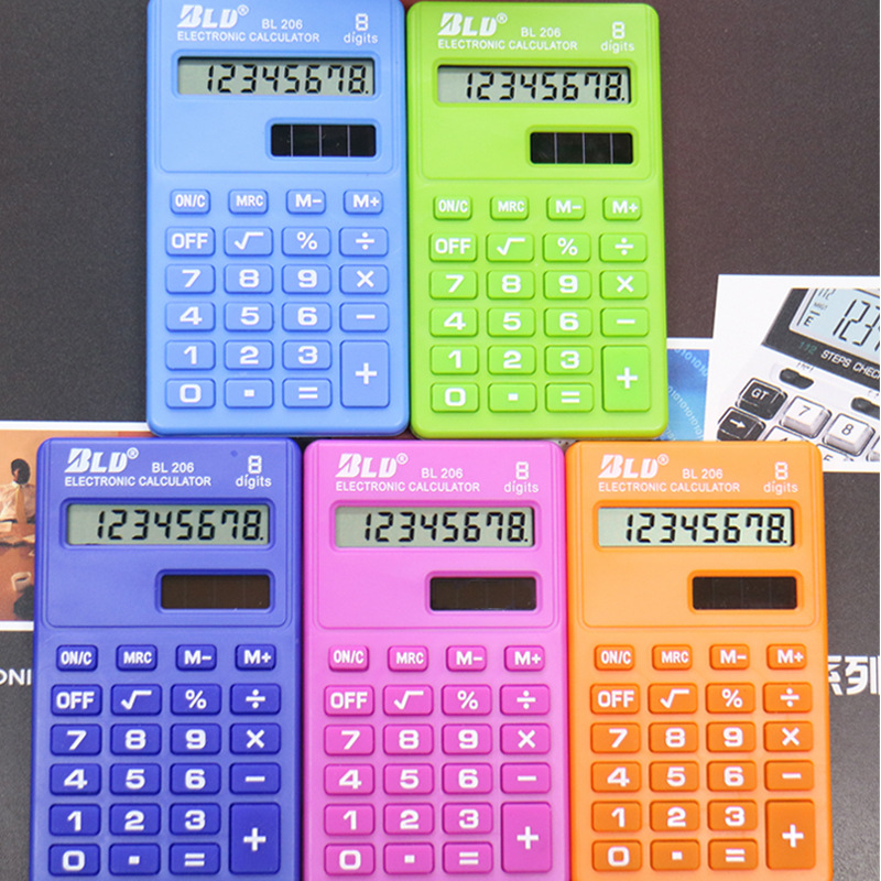 2018 New Student Mini Electronic Calculator Mix Color Calculating Office Supplies Gift