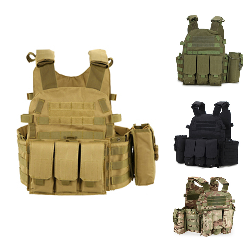Airsoftsports Tactical Military Molle Waistcoat Combat Vest Airsoft Military Vest Hunting Vest CS Outdoor Paintball Equipment