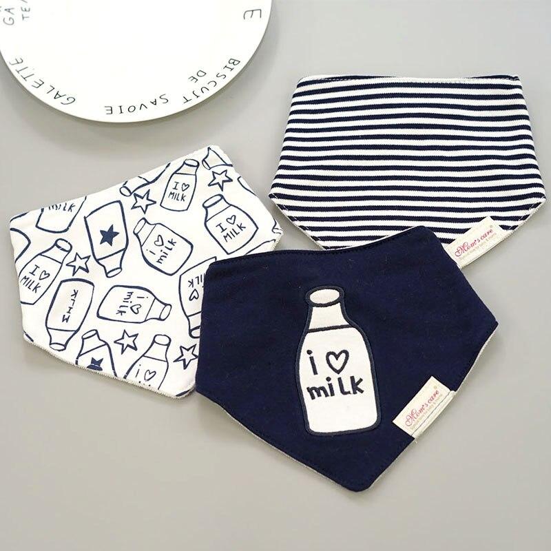[Momscare] 3 teile/los Mode Neugeborenen Baby Lätzchen Wasserdichte Kinder Mädchen Und Jungen Baumwolle Dreieck Kinder Fütterung Zubehör