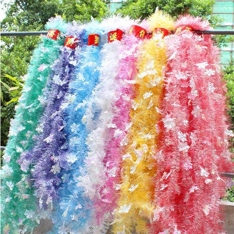 Colorful Snowflake Ribbon Garland Tinsel Tree Hanging