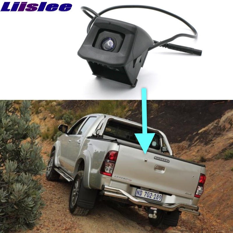 Car Rear Camera For TOYOTA HILUX AN Original Reverse Hole LiisLee Rear View Back Up WaterProof CCD Night Vision View Car Camera image