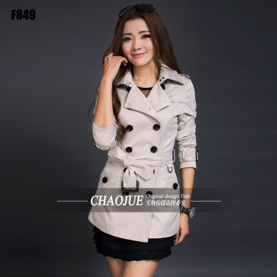 Aliexpress.com : Buy CHAOJUE Brand white trench coat for womens ...
