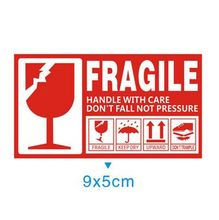 5000pcs  fragile handle with care 9x5cm self-adhesive shipping label stickers warning sticke