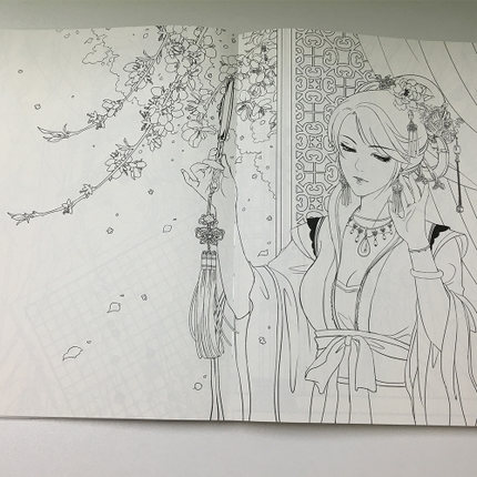 Купить с кэшбэком Figure line drawing book Chinese Ancient Style Beauty sketch Techniques book Illustration Collection copybook Coloring book
