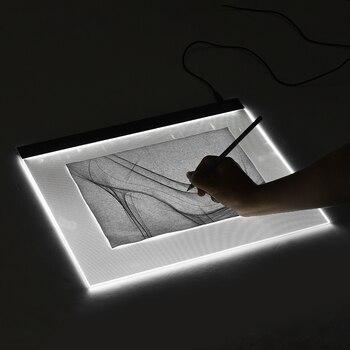 Aibecy A3 caja de luz almohadilla de regulador de luz LED de atenuación continua tableta de dibujo almohadilla de protección de ojos para pintar bocetos de animación
