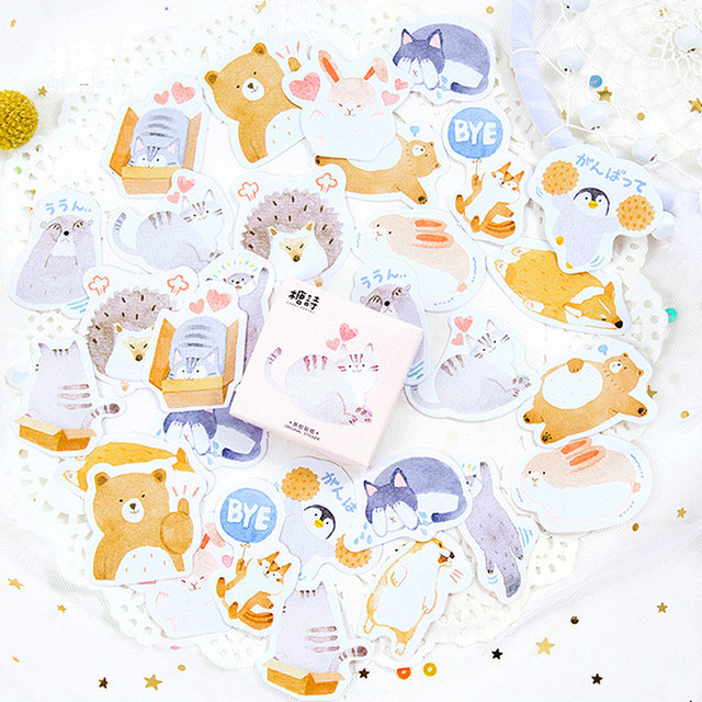 1 Box Lovely Infinite Love Classic Kawaii Style Graffiti Stickers For Moto Car & Suitcase Laptop Stickers Skateboard Sticker