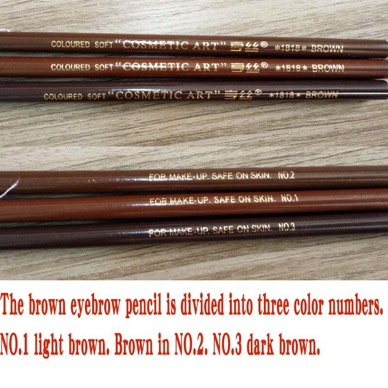 10pcs/set 5colors Available Eyebrow Pencil Shadows Cosmetics for Makeup Tint Waterproof Microblading Pen Eye Brow Natural Beauty 6