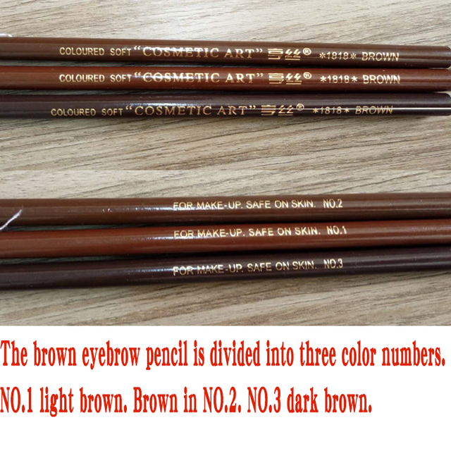 10pcs/set 5colors Available Eyebrow Pencil Shadows Cosmetics for Makeup Tint Waterproof Microblading Pen Eye Brow Natural Beauty 5