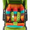 Infantil Baby Stroller Almofada Rainbow Color Grosso Carrinho de Criança Pad Carrinho De Bebê Carrinho de Bebé Carrinho De Bebê Carrinho de Algodão Almofada Do Assento Macio Cadeira Mat