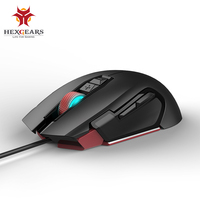 HEXGEARS Gaming Mouse Wired 6000 DPI Metal Wheel 7 Button usb Mice RGB Programmable Computer Game Mouse Mause PC Mouse Gamer