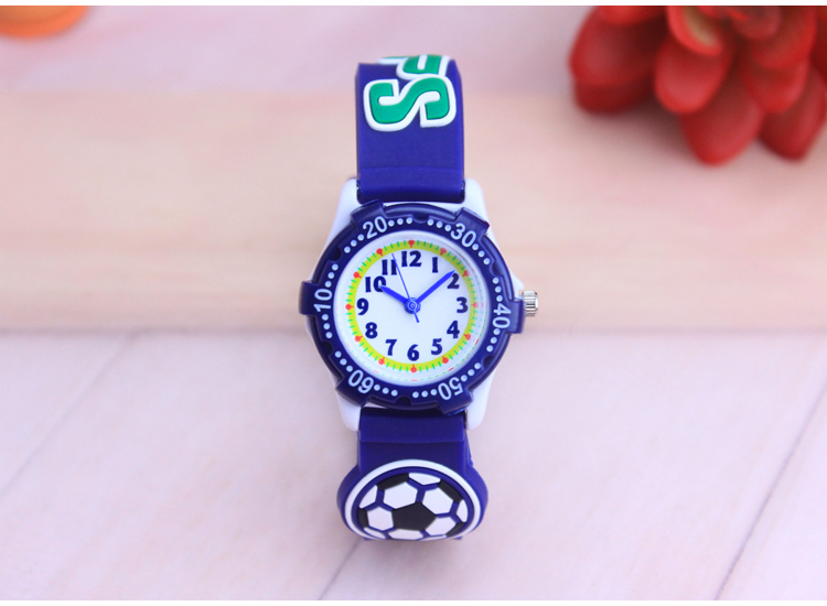 My Child's Quartz Watch Child 3D Cartoon Football Pointer Electronic Waterproof Watch Boy Girl Watch Student Table
