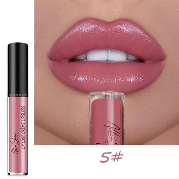 Allen Shaw 1 sztuk Nude Glitter mieniąca się płynna pomadka do ust nawilżający wodoodporny błyszczyk Sexy odcień ust pigmenty wargi kosmetyczne TSLM2