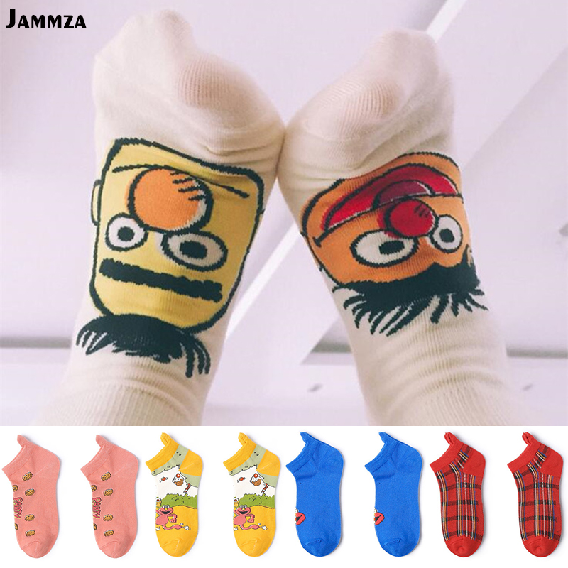 Hot Women Cute   socks   Cartoon fashion Funny cotton Japan Ankle Invisible sokken stripe spring summer Animal Wild Gift for Girl
