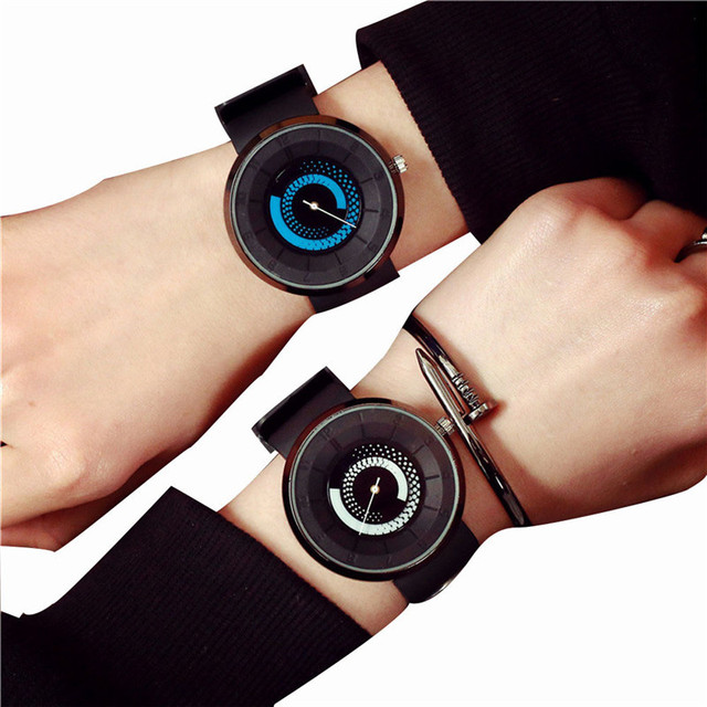 Unisex Female Clock Stainless Steel Men Women Lovers Watches Neutral Military Sp