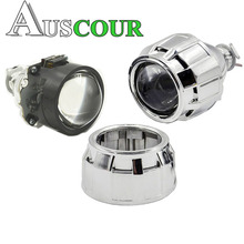 2 5inch bixenon hid Projector lens with cover shrouds mask Xenon Kit lamp bulb H1 H4
