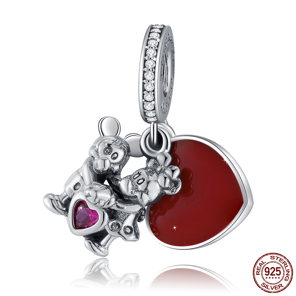 9f95a638a Dropshipping 100% 925 Sterling Silver Charms fit original Pandora bracelet  Cartoon Mouse Mickey Minnie With