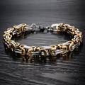 2016 New Brand Fashion Jewelry Mens Stainless Steel Gold / Silver / Black Bracelets & Bangles for Men Chain Link Bracelet LGS711