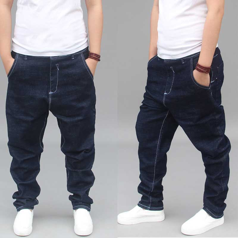 Fashion Men's Loose Baggy Jeans Trendy Feet Harem Pants Cotton Joggers Hip Hop Trousers Man Clothes
