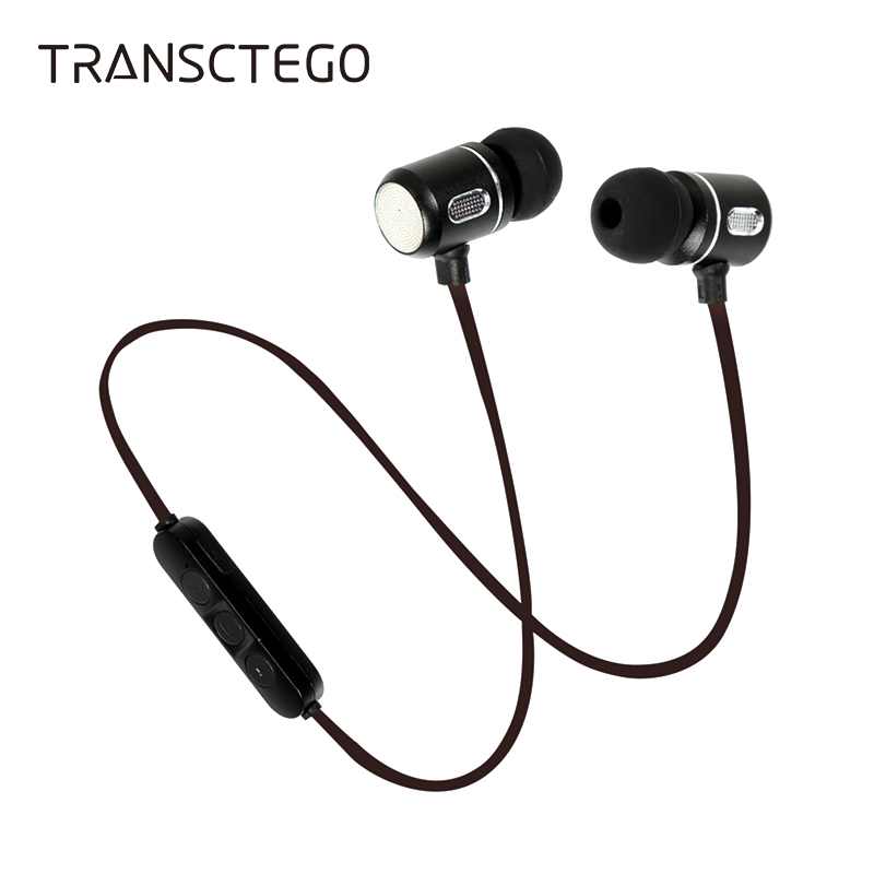 Wireless bluetooth headset magnetic absorption of neck of the ear stereo heavy bass running phone earphone battery life