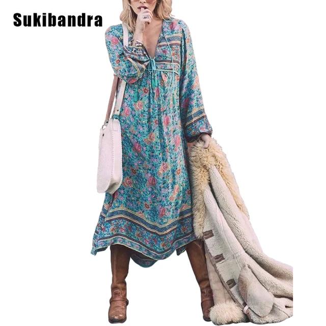 lange jurken hippie stijl