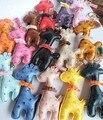 5 Unids/lote Multicolor Lindo de la Jirafa Llavero Animal de la Cadena Dominante del Anillo Dominante Del Coche de Cuero Las Mujeres Colgante Del Bolso