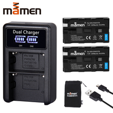 Mamen 2pcs NP-F550 NP F550 NPF550 NP-F570 F570 Rechargeable Digital Camera Battery +USB LCD Dual Charger for Sony GV-D200 D80