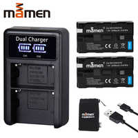 Mamen 2pcs NP-F550 NP F550 NPF550 NP-F570 NP F570 Rechargeable Digital Camera Battery +USB LCD Dual Charger for Sony GV-D200 D80