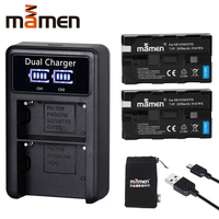 Mamen 2pcs NP F550 NP F550 NPF550 NP F570 NP F570 Rechargeable Digital Camera Battery +USB LCD Dual Charger for Sony GV D200 D80