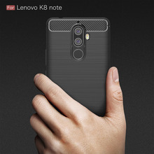 Lenovo K8 Note Case Silicon for Cover Soft Carbon Fiber Brushed Hoesje Fundas Movil Coque Etui
