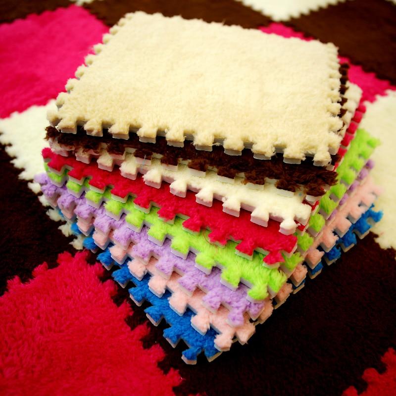 DIY 30*30*1cm Living Room Bedroom Children Kids Soft Carpet Magic Patchwork Jigsaw Splice Heads Climbing Baby Mat