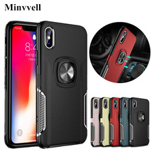 For iPhone 7 8 Plus XS XR X Case Rubber Shockproof Rugged Armor Ring Stand Case For iPhone X XS MAX XR 6 6s Plus TPU+PC Cover rugged tpu case for iphone 11 pro max case iphone x xs xr 6 6s plus 7 plus 8 plus iphone11 11pro cloth back cover elk deer shell