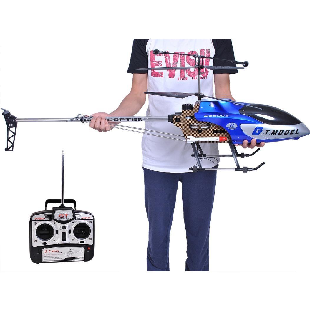 HIINST новый синий 53 дюймов Extra Large GT QS8006 2 скорость 3,5 Ch вертолет Builtin гироскопа Bluewith Большой Летающий опыт JAN1