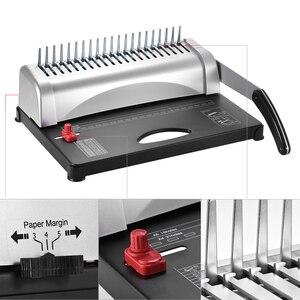 Image 4 - A4 กระดาษเครื่อง Puncher Binder 21 หลุมเครื่อง 12 แผ่น Punching 450 แผ่น Binding Office Home เครื่องมือ A5 a6 7