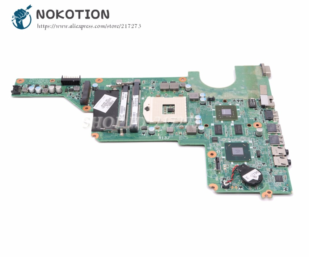 NOKOTION Laptop Motherboard For HP pavilion G4 G6 MAIN BOARD DAR13JMB6C0 REV C 681045-001 HM65 DDR3 1gb VGA hipNOKOTION Laptop Motherboard For HP pavilion G4 G6 MAIN BOARD DAR13JMB6C0 REV C 681045-001 HM65 DDR3 1gb VGA hip