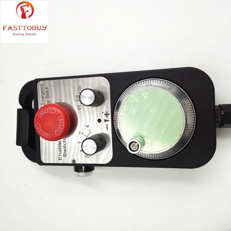 CNC Pulse Generator 4 Axis MPG Pendant Handwheel & Emergency Stop Switch, manual pulse generator Controller cnc pulse generator 4 axis mpg pendant handwheel