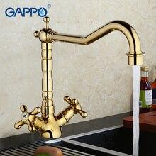 Gappo Кухня раковина кран золото воды смесителя кухонный кран водопроводного крана кран латунь кухонный смесители высокое качество G4063-6