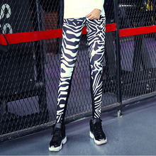 Top Quality Zebra Stripes Print Leggings [with Pocket]