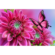 Butterfly rose diamond Embroidery diy painting mosaic diamant 3d cross stitch picture H456