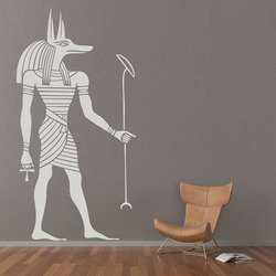 Egyptian Anubis Wall Sticker Ancient Egypt Style Wallpaper Home Living Room Decoration Removable Anubis Wall Art Decals 3353
