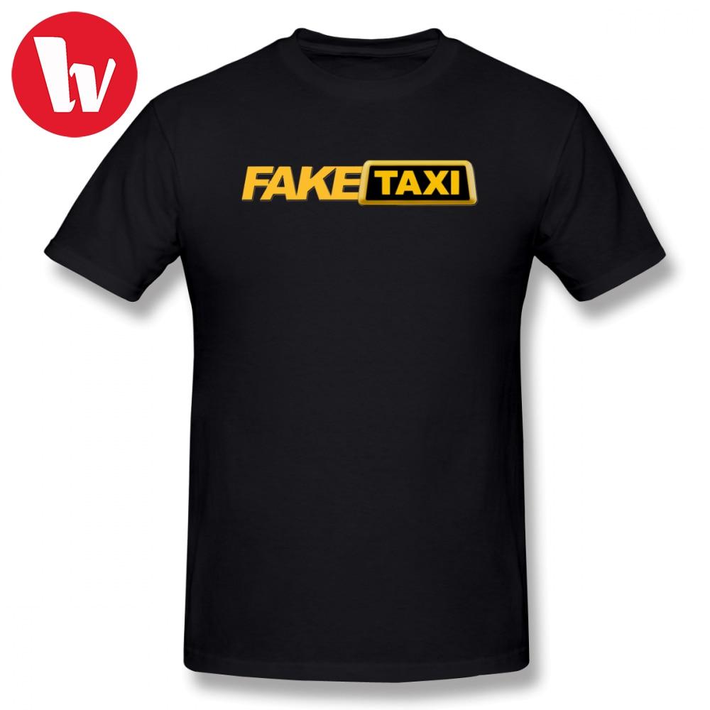Fake Taxi T Shirt Funny Letter Print T Shirts Male Cotton T-Shirt Plus Size 5XL 6XL Tshirt Men's Tee Shirt With Short Sleeve
