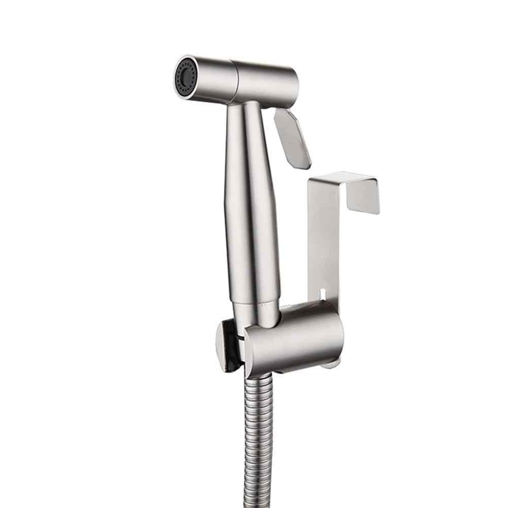 304 Stainless Steel Tangan Toilet Bidet Mini Shower Bidet Semprot Tekanan Tinggi Kecil Shattaf Sprayer Di Brushed Nikel Set
