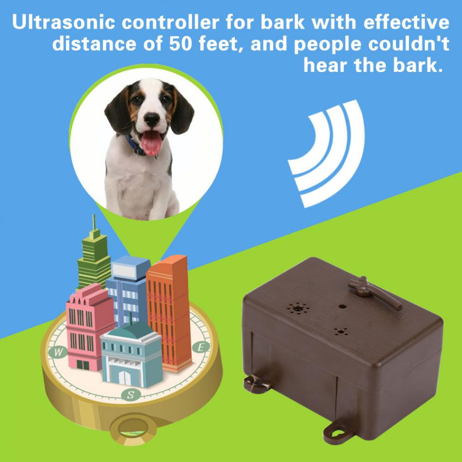 Outdoor Dog Controller Ultrasonic Repeller Bark Electronic Repellent Circuit 2 Control Anti Barking Device Training Accessories In Deterrents From Home