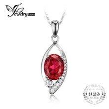 Jewelrypalace ojo 2.2ct creado rubíes rojo colgante de joyería fina de plata de ley 925 para las mujeres no incluyen la cadena de moda