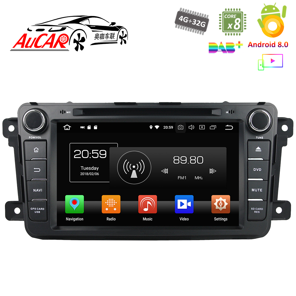 Android 8.0 Car DVD Player for Mazda CX 9 2007 2017 Car GPS Multimedia system HD Bluetooth Radio WIFI 4G AUX touch screen