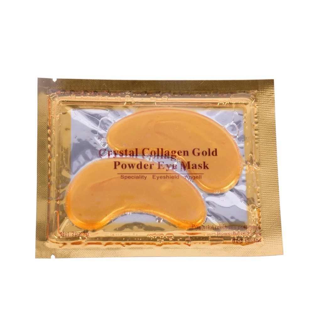 2017 Золотая с кристаллами коллагена маска для глаз горячая Распродажа патчи для глаз против морщин удалить черный глаз уход за лицом 6 шт = 3 упаковки