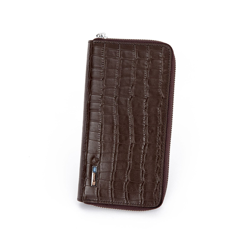 Vintage Smart Wallet Men Crocodile Pattern Genuine Leather Clutch Long Wallets High Quality Phone Cash Pocket kenneth cole new york womens leather clutch wallet w iphone smart phone pocket