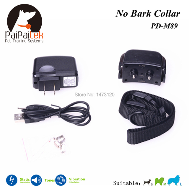 2016 Newest Automatic Anti Barking Collar Shock + Vibra + Electric Rechargeable and Waterproof Bark Control Dog Training Collar